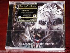 Thanatos: Undead Unholy Divine - Limited Edition CD 2014 Bonus Tracks Black NEW