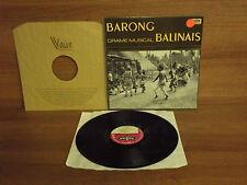 Barong : Drame Musical : BALINAS : Louis Berthie : Vinyl Album : Vogue : LD 763