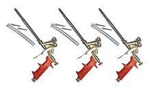 3 x Profi Schaumpistole Metall für Pistolenschaum Bauschaum Bauschaumpistole PF5