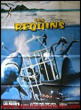 LES REQUINS Affiche Cinéma ORIGINALE / Movie Poster SHARK No JAWS 1974