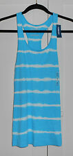 WOMEN'S OLD NAVY TYE DYED BLUE AND WHITE RACER BACK TANK TOP - SIZE SMALL