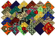 """30   5"""" Fabric Squares African 15 Patterns Quilting Patchwork"""