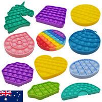 Pop Its Bubble Fidget Toy Push Bubble Stress Relief Kids Autism AU STOCK