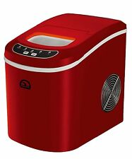 iGloo Portable Compact Countertop Ice Maker, Makes 26lb/day, LED Indicator – Red