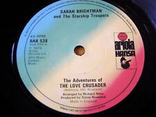 "SARAH BRIGHTMAN & THE STARSHIP TROOPERS - THE LOVE CRUSADER  7"" VINYL"