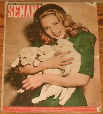 SEMANA #451 1948 Franco Atletico de Madrid Deportivo La Coruña magazine revista
