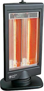 Heater w/ Slimline Flat Panel Design Oscillating Electric Halogen Radiant Heater