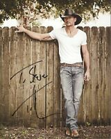 TIM MCGRAW Hand Signed Photo 8 x 10 Color Authentic Autograph To Steve