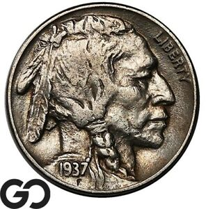 1937-D Buffalo Nickel, 3-Legged, Collector Favorite Key Date Mint ERROR!