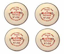 "4X CW ""MAESTRO WHITE"" HIGH Quality 4 Piece Cricket Ball -156 g + A Grade"