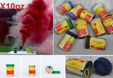 10 Fumogeni XL filo linguetta a strappo fumo colorato.Stadio,fumogeno nebbia gas