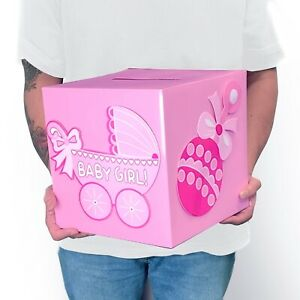 Baby Shower Decoration Wishing Card Box Baby Boy Baby Girl Keepsake Carriage