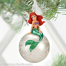 2011 Disney Store Ariel The Little Mermaid Sketchbook Ball Ornament Christmas