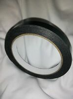 Double Sided BLACK Number Plate Tape Adhesive Foam roll UK STOCK 12x1MMx2.5M
