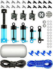 Lego Pneumatic AIR TANK Blue Kit (technic,cylinder,mini,pump,tubing,switch,hose)