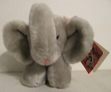 "Vintage Russ Luv Pets Elephant Plush Stuffed Animal 10"" Pink Tongue"