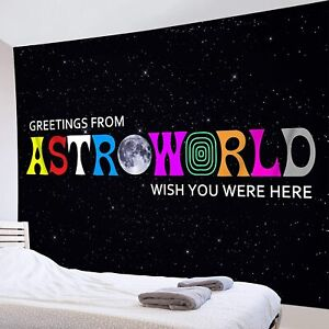 Greetings from Astroworld Wish You were Here Tapestry Wall Hanging For Bedroom