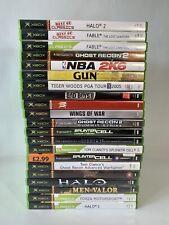 Original Microsoft XBOX games Bundle x 21