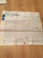 Vellum Indenture 1898 Mortgage Dwelling Shop & Premises Froghall Ln. Warrington