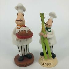 Set of 2 By Jessica Flick Chef Kitchen Decor Collectible Resin Figurines