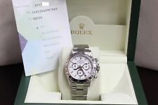 ROLEX DAYTONA 116520 STAINLESS STEEL WHITE DIAL MINT CONDITION BOX & PAPERS