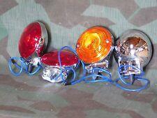 Panhead Set of 4 Turn Signal Lights. Single Contact 6 Volt. 63 - 64
