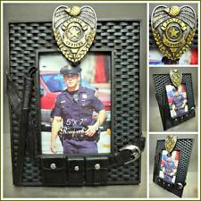 POLICE OFFICER COP BADGE 5 x 7 PICTURE FRAME HOME OFFICE DECORATION Unique Gift