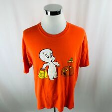 Vintage Casper The Friendly Ghost Trick Or Treat Orange T-Shirt Mens XL X-Large