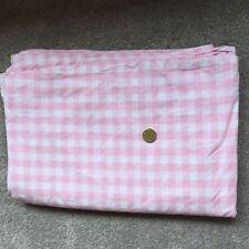 Pottery Barn Kids Organic Pink Check Single Sheet Set