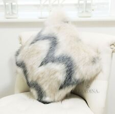 Zardina - Luxury Faux Fur Fluffy Scatter Cushion (Flurry)