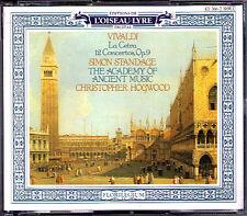 Christopher Hogwood: VIVALDI la cetra 12 concertos op.9 Simon stangage 2cd