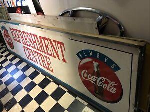 Coca Cola Always Fresh Refreshment Centre Large Genuine Timber Sign