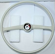 CLASSIC FIAT 500 F ROUND SPEEDO STEERING WHEEL WHITE BRAND NEW