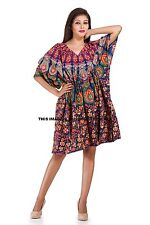 Peacock Mandala Women's Maxi Dress Indian Hippie Kaftan Night Wear Caftan Gown