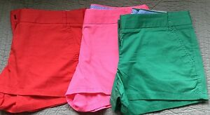 WOMENS J. CREW CITY FIT BROKEN IN CHINO SHORTS SIZE 10
