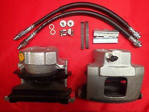 Ford Granada front brake calipers pads & hardware also includes rubber hoses