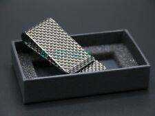 SILVER weave High Quality 100% 3K Carbon Fibre Money Clip - GLOSS Finish 1008