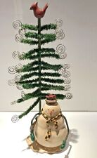 Merry Christmas Resin Snowman with Tree Christmas Card Holder