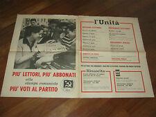 MANIFESTO anni 70,POLITICA,EDITORIA  L'UNITA',RINASCITA PCI,STAMPA COMUNISTA,