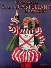 CHAMPAGNE CASTELLANE by Leonetto Cappiello 1980 original FRENCH poster