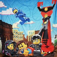 The Lego Movie Twin Comforter Reversible Minifigers Police Wizard President Girl