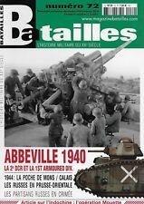 BATAILLES  N° 72 / ABBEVILLE 1940 LA 2e DCR ET LA 1st ARMOURED DIV. - POCHE MONS