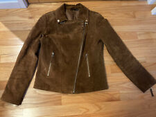 womens moto jacket suede Esmara By Hedi Klum-brown, Size EUR 40