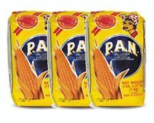 3x Harina PAN White Corn Meal Flour 3 x 1 Kg Venezuela
