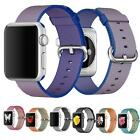 Royal Woven Nylon Band Leather Silicone Stainless Steel Strap For Apple Watch