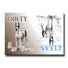 Great Dane Clean Dirty Dishwasher Magnet No 2 Harlequin