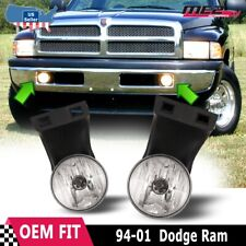 For Dodge Ram 94-01 Factory Bumper Replacement Fit Fog Lights DOT Clear Lens