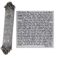 UNIQE SIlver Mezuzah Case & Kosher Scroll Jewish Door Mzuza Mezuzut Judaica 12cm