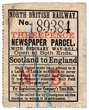 (I.B) North British Railway : Newspaper Parcel 3d