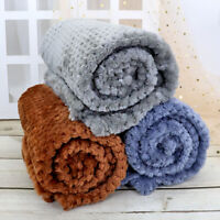 Large Pet Blanket Soft Baby Dog Cat Warm Blankets for Car Fleece Throw Washable